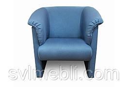 Кресло Манчестер рогожка голубой