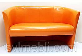 Диван Бонус нераскладной экокожа оранжевый