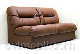 Диван Визит нераскладной экокожа коричневый