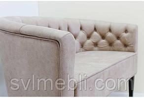 Диван Доминика шлифованный велюр коричневый, фото 2