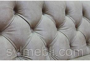 Диван Доминика шлифованный велюр коричневый, фото 3