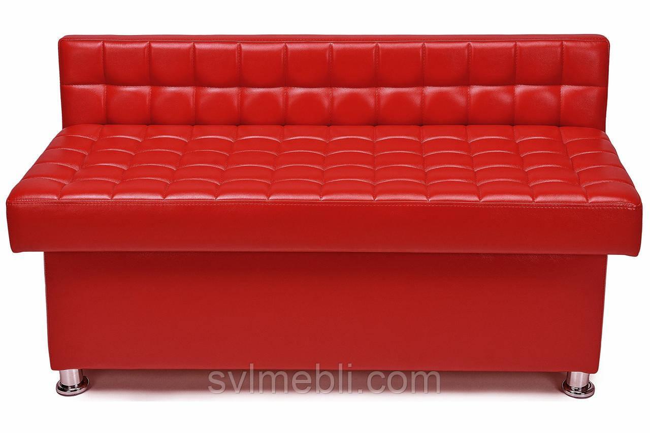 Банкетка Глазго с ящиком экокожа красный