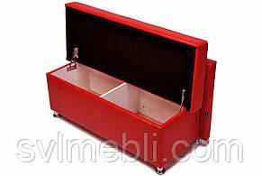 Банкетка Глазго с ящиком экокожа красный, фото 2