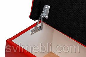 Банкетка Глазго с ящиком экокожа красный, фото 3