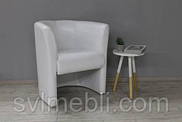 Кресло  Бонус , экокожа белая глянцевая