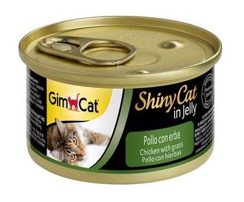 Консервы для кошек с курицей и травой GimCat ShinyCat in jelly в желе 70 г