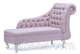 Софа Ноэль рогожка розовый ножки белые