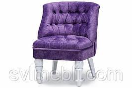 Кресло Прованс велюр сиреневый ножки белые
