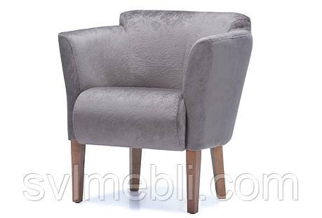 Кресло Мишель велюр кофейный ножки орех, фото 2