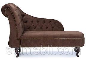 Софа Ноэль велюр коричневый ножки венге, фото 2