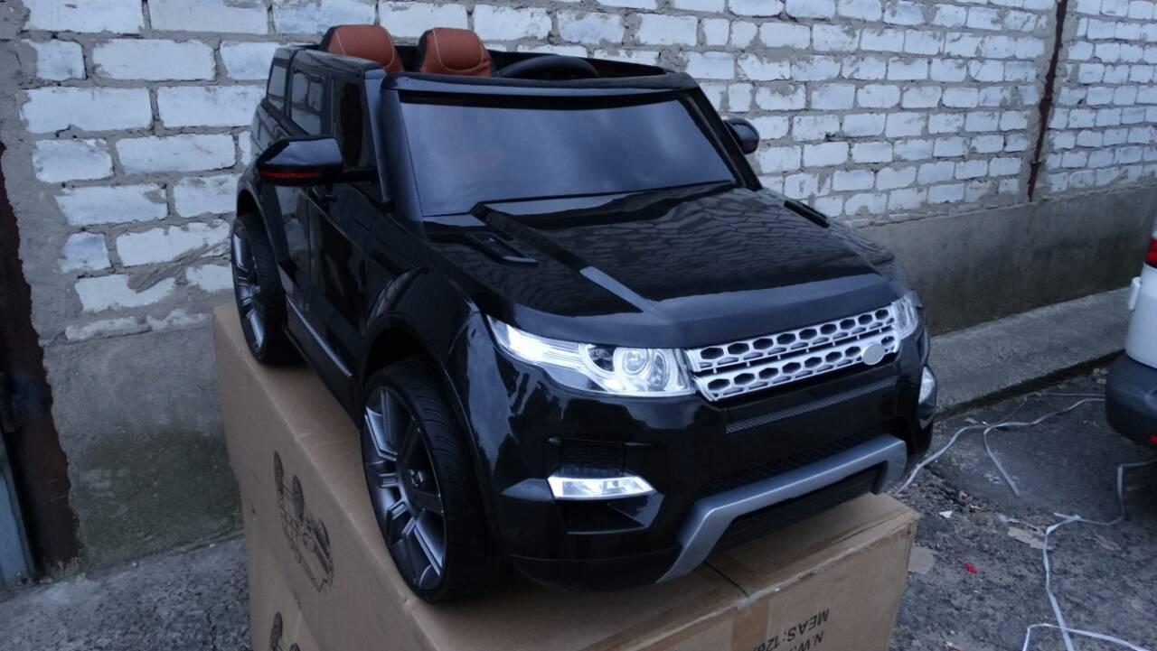 Детский электромобиль Range Rover KT 8888 на резиновых колесах черный