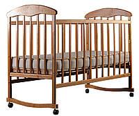 Детская кроватка Наталка для новорожденного Ольха светлая