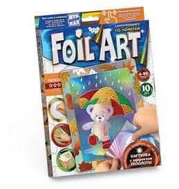 Книжка с аппликацией разноцветной фольгой FOIL ART, Мишка FAR-01-03