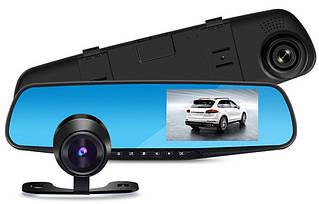Автомобильный видеорегистратор зеркало заднего вида с камерой DVR A1 | Видеорегистратор на 2 камеры