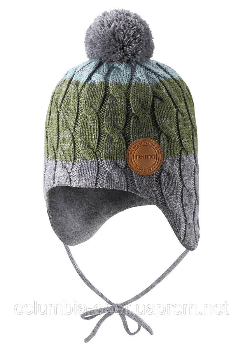 Зимняя шапка-бини для мальчика Reima Nuutti 518534-8931. Размеры 46 - 52.