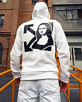 Худи мужское в стиле Off White Mona Lisa белый - размер М, фото 1