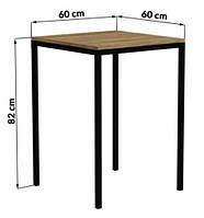 Стол барный GoodsMetall в стиле Лофт 820х600х600 БСТ76