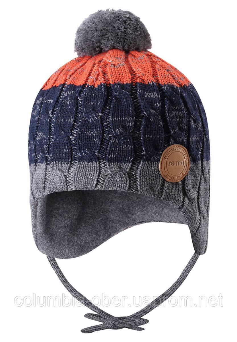 Зимняя шапка-бини для мальчика Reima Nuutti 518534-6981. Размеры 46 - 52.