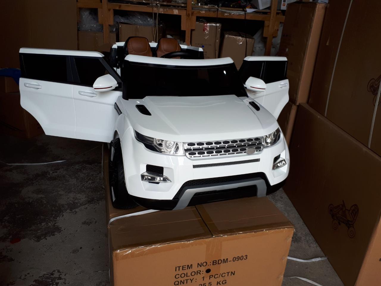 Детский электромобиль Range Rover KT 8888 на резиновых колесах белая