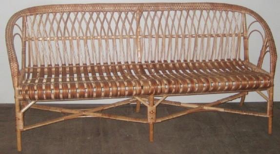 """Плетеный диван 3-х местный """"Дачный"""". Размер можно изменять. Диван из лозы."""