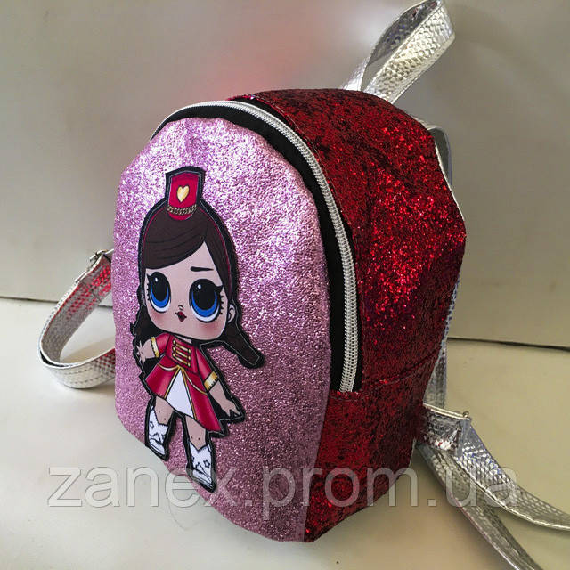 Женский рюкзак Zanex из эко-кожи с куклой LOL Sisters 20 х 21 см