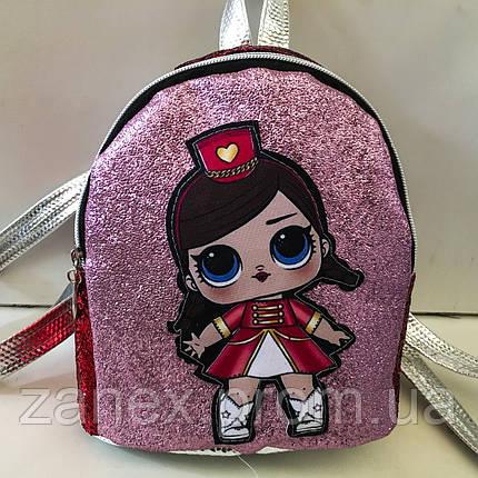 Женский рюкзак Zanex из эко-кожи с куклой LOL Sisters 20 х 21 см, фото 2