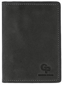 Шкіряна чорна обкладинка для автодокументів Grande Pelle (202110)
