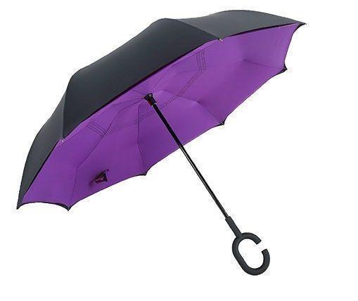 Зонт Навпаки Up-brella - Парасольку Зворотного Складання | Фіолетовий