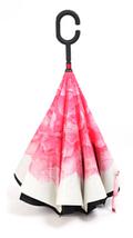 Зонт Наоборот Up-brella - Зонт Обратного Сложения | Розовый цветок, фото 3