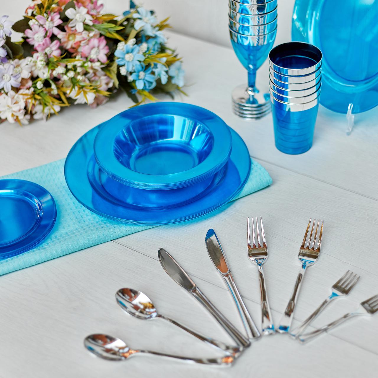 Вилки десертные стекловидные негнущиеся  для корпоротива, event. Полная сервировка стола. CFP 24 шт 130 мм
