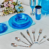 Вилки десертные стекловидные негнущиеся  для корпоротива, event. Полная сервировка стола. CFP 24 шт 130 мм, фото 1