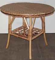 Стол журнальный, круглый С-1. Размер и форму можно изменять. Стол из лозы