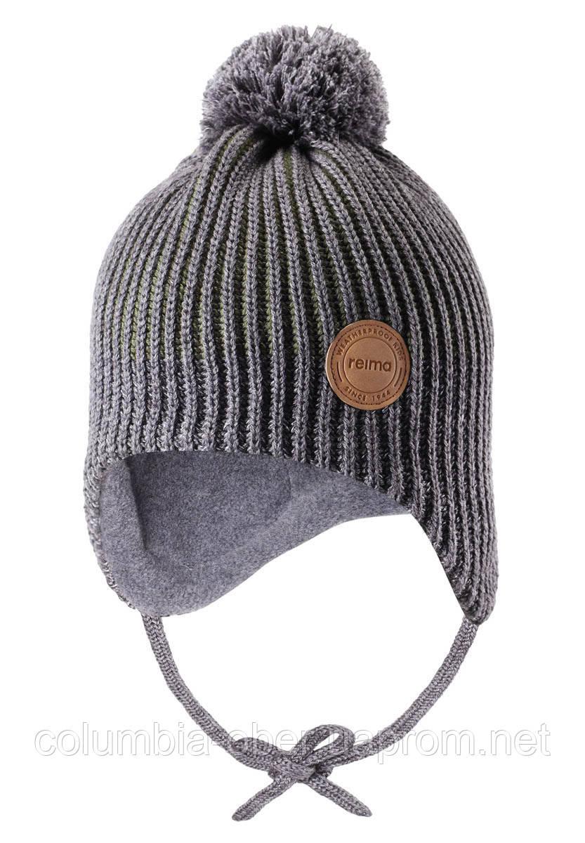 Зимняя шапка-бини для мальчика Reima Weft 518536-8930. Размеры 46 - 52.