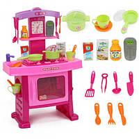 Детский игровой набор кухня с посудой 661-51 есть световые и звуковые эффекты