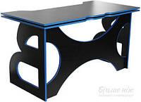 Стол компьютерный Barsky Homework Game HG-04 черный/синий T80357973
