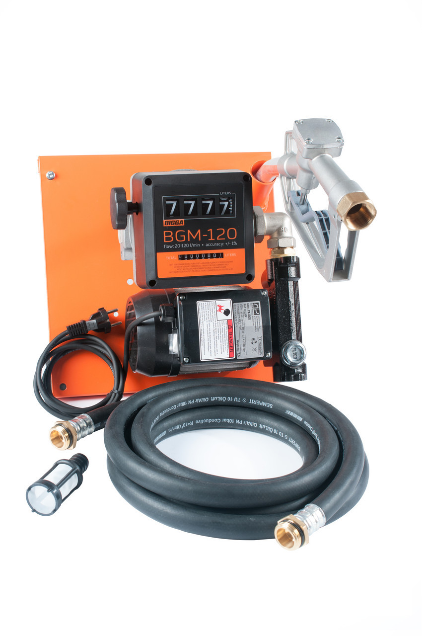 Bigga Beta AC-100- узел для заправки дизтопливом со счетчиком, 220В, 100 л/мин.