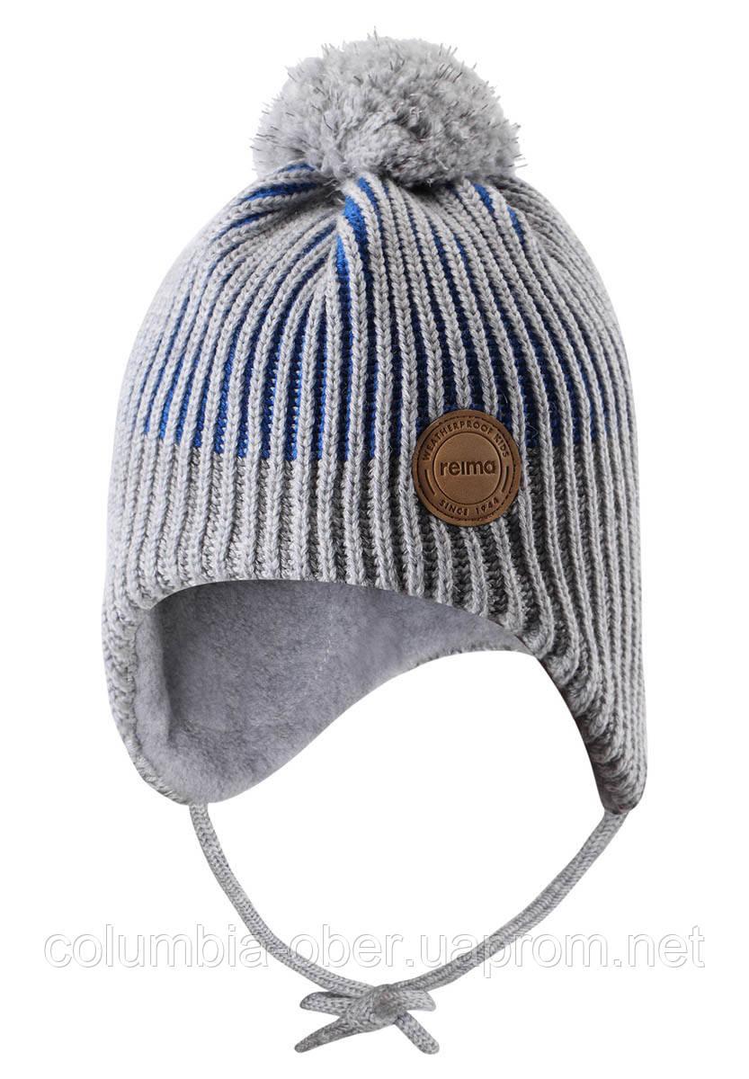 Зимняя шапка-бини для мальчика Reima Weft 518536-6500. Размеры 46 - 52.