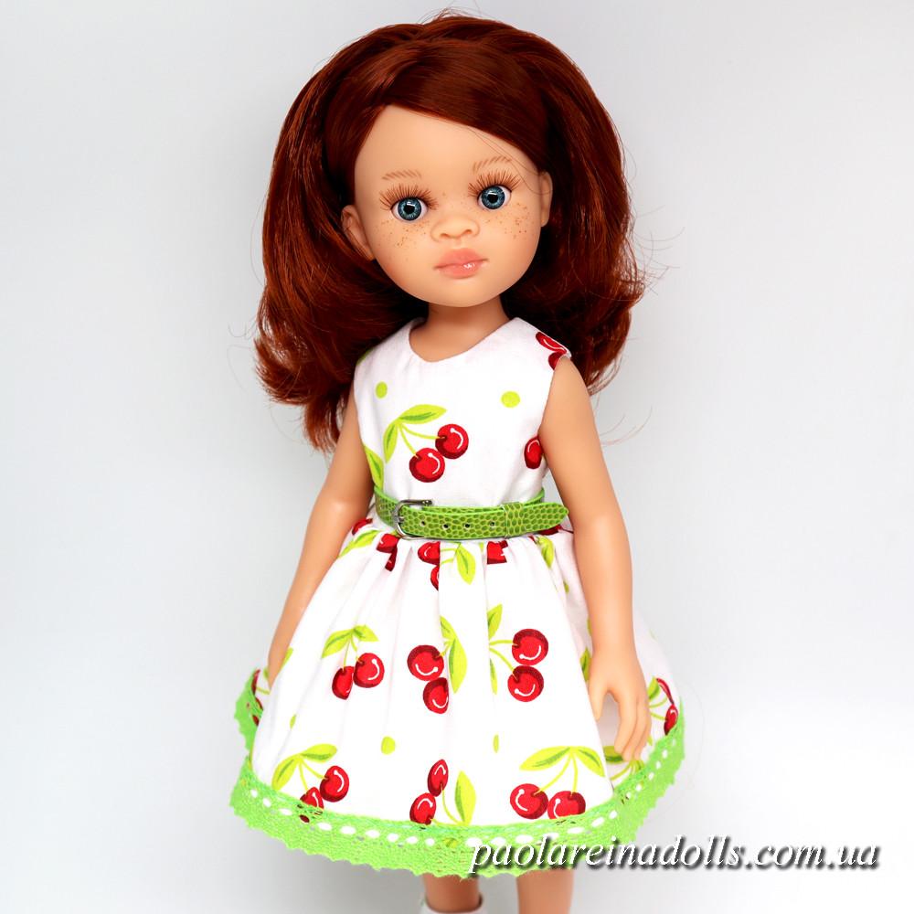 """Платье """"Вишенки"""" для кукол Паола Рейна"""