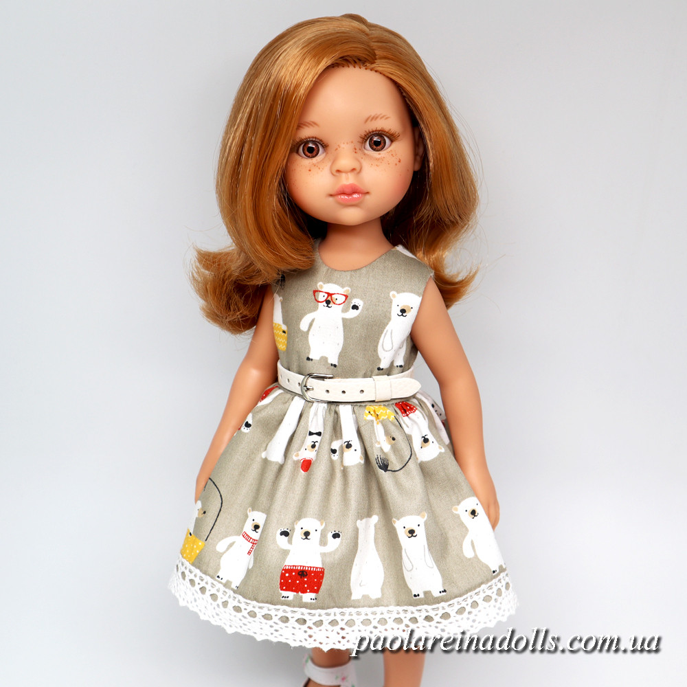 """Платье """"Северные мишки"""" для кукол Паола Рейна"""