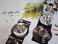 Тарелки Capital For People пластиковые  для банкета, презентаций. Полная сервировка стола. 6 шт 260 мм, фото 1