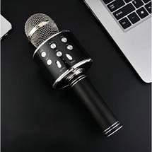 Бездротовий мікрофон WS-858 | Чорний, фото 3