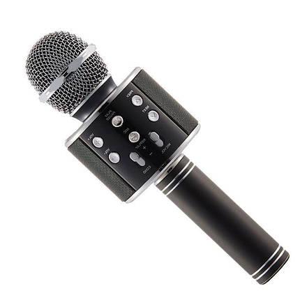 Бездротовий мікрофон WS-858 | Чорний, фото 2