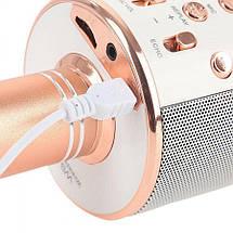 Беспроводной микрофон WS-858   Розовый, фото 3