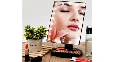 Косметическое зеркало для макияжа с подсветкой Magic Makeup Mirror   Прямоугольное зеркало, фото 3