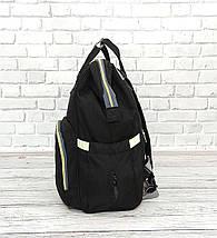 Сумка-рюкзак для мам LeQueen   Черная, фото 3