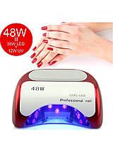 Гібридна УФ лампа для нігтів CCFL LED 48W Beauty Nail K18, фото 2