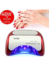 Гибридная УФ лампа для ногтей CCFL LED 48W Beauty Nail K18, фото 2