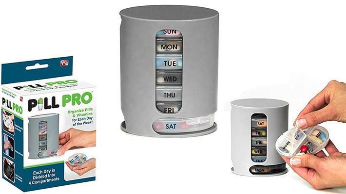 Органайзер для таблеток на 7 дней PILL PRO   Box Неделька   Таблетница