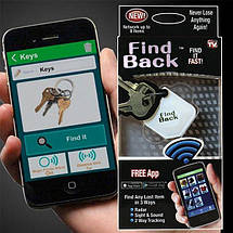 Брелок для поиска ключей Bluetooth Find Back, фото 3