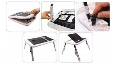 Столик подставка с охлаждением для ноутбука E-Table LD 09   Портативный складной столик, фото 2